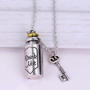 """Wonderland inspired """"drink me"""" necklace"""